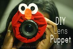 DIY Lens Puppet, cute and easy idea.