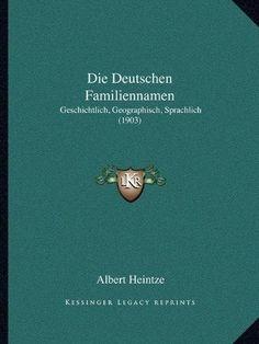 Die Deutschen Familiennamen