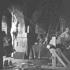 """Men are twisted. Men STILL use this torture today. """"Strappado was probably the most common form of torture used in the Torture Chambers of the inquisition and later European witch-hunts. Spanish Inquisition, The Inquisition, Maleficarum, Atheism, The Victim, Macabre, Middle Ages, Paranormal, Prison"""