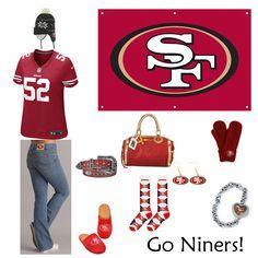 San Francisco 49ers Outfit www.fansedge.com/San-Francisco-49ers-Womens-Apparel-_-2084666365_PG.html?social=pinterest_wwls_niners