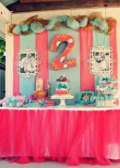ties and tutus tutu cute cake table