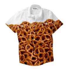 """""""The twirly shape of pretzels is supposed to resemble arms crossed in prayer. Button Shirts, Button Down Shirt, Arms Crossed, Salty Snacks, Pretzels, Button Downs, Prayer, Shape, Eid Prayer"""