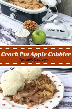 Can you ever have enough apple recipes? Add Crock Pot Apple Cobbler to that extensive list, it's well worth it! Easy and makes the house smell good! Slow Cooker Apples, Cooked Apples, Slow Cooker Recipes, Crockpot Recipes, Casserole Recipes, Yummy Recipes, Apple Recipes, Pumpkin Recipes, Fall Recipes