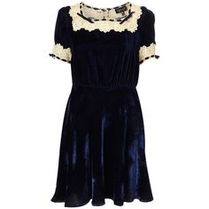 Topshop Midnight Blue Velvet dress eXile or eXhibit ❤ liked on Polyvore featuring dresses, velvet dress, blue velvet dress, topshop dresses, midnight blue dress and midnight blue velvet dress