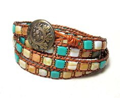 Wrapped leather bracelet  Bronze leather Tila by SigalsDesigns, $73.00