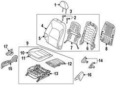 2013 Kia Rio EX Passenger Seat Components Diagram