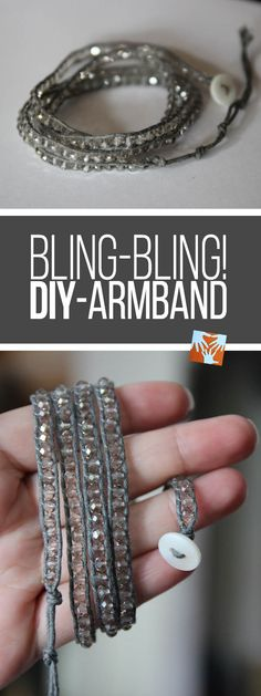 DIY selbstgemachtes Armband mit Wow-Effekt, Geschenkidee, Bling-Bling, basteln