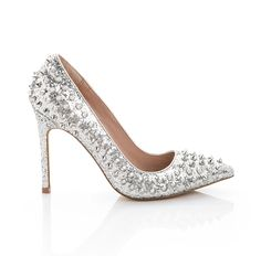 Silver studded pumps