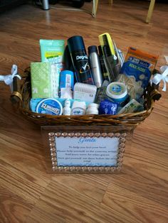 Inspirational Wedding toiletry Basket