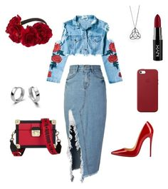 """""""Untitled #678"""" by aleynagulgup on Polyvore featuring storets, Christian Louboutin, Apple, NYX and Tommy Hilfiger"""