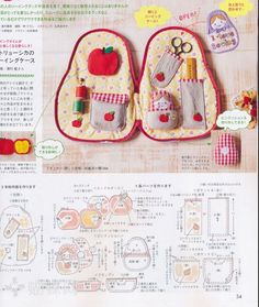 Sweet Russian doll sewing kit.