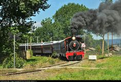 New trip of the Valdiviano, tourist and heritage train with North British No.620 steam locomotive (built in 1913), between Valdivia city and Antilhue town.