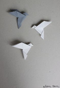 DIY origami reflector by eilen tein: heijastin / origami