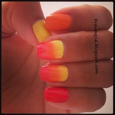 My ombré nails for summer time