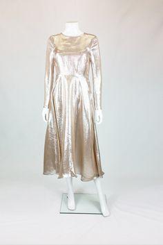 HOBBS DEBUTANTE LAME SILVER PINK 3/4 LENGTH DRESS UK 10