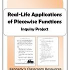In this project, students will apply their knowledge of piecewise functions to real-life phenomena. They will receive points for their correctly la...