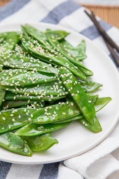 Recipe: Quick Sesame Snow Peas