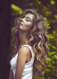 Curly nice hair style