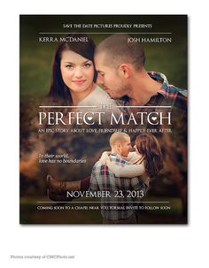 Personalized Save the Date Movie Poster Digital Printable