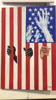 Powerful protest art. Can't reach for the stars when your people are incarcerated at horrifically unjust rates.
