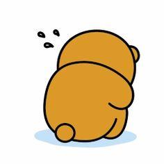 Sad Bear Cute Couple Cartoon, Cute Cartoon Pictures, Cute Cartoon Girl, Cute Love Cartoons, Gif Pictures, Chibi Cat, Cute Chibi, Cute Love Gif, Cute Cat Gif