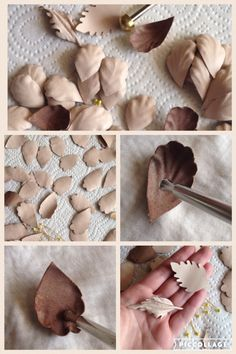 Leather flowers. Working with Italian leather to make flowers for my next headpiece. Millinery