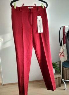 Kup mój przedmiot na #vintedpl http://www.vinted.pl/damska-odziez/spodnie-do-kostek-i-chinosy/21569047-czerwone-spodnie-w-kant-78-eleganckie-dobry-material