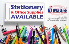 """Did you forget to pick up a new set of pencils for back to school? We have an emergency stationary supply for those,"""" uh oh"""" moments, to top it all off, we are available 24/7, 7 days a week 365 day a year.  Pop in and say Hello, we are situated at 108 Ferreira Street Mbombela 1201 or contact us on 013 744 1156 #elmadreengen #backtoschool #engen Stationary Supplies, Art Supplies, Office Supplies, Filling Station, Say Hello, Back To School, Forget, Stationery, In This Moment"""
