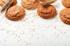 Oatmeal sweet cookies. by Mellisandra on @creativemarket
