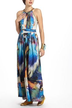 Tropicalia Pleated Maxi | Anthropologie - seriously sad when I missed this dress...waited for it to go on sale and all my sizes were gone!