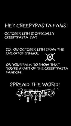 Spread The Word #creepypasta