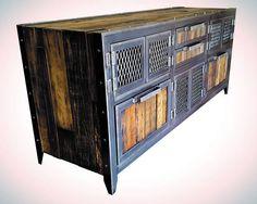 Industrial buffet / console . reclaimed wood & steel .59ST .