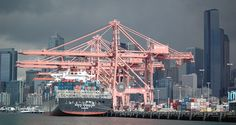 Hanjin Copenhagen container ship at Seattle by jkbrooks85 via Flickr