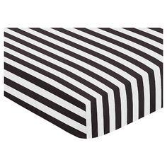 $19.99 Sweet Jojo Designs Paris Fitted Crib Sheet - Stripe : Target
