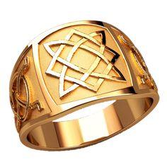 Celtic pattern Mens Signet Ring, Celtic Signet Ring, Mens Gold Ring, Large Signet Ring, Celtic Gold Ring, Unique Men Ring, Exclusive Men Ring, Gift