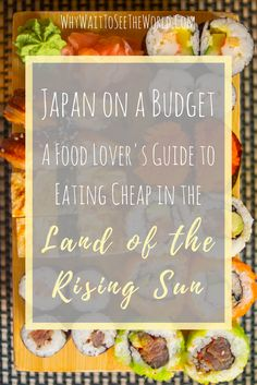 Heading to Japan but don't want to spend all your money? Don't worry you can eat in Japan on a budget and it will be delicious! Find out how from #WhyWait