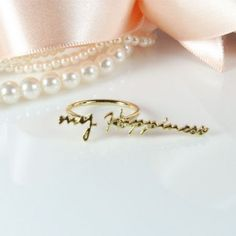 """"""" My happiness """" ring"""