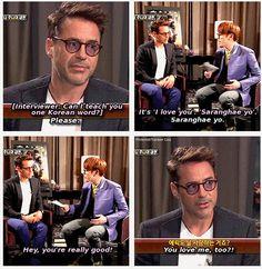 RDJ channeling Tony Stark again. (Or does Tony Stark channel RDJ? It's hard to tell.)