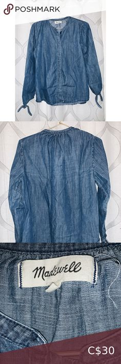 Madewell Denim Blouse Madewell denim blouse/tunic top. Size small. Lightly worn. Madewell Tops Blouses