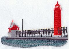 Grand Haven Lighthouse design (A8505) from www.Emblibrary.com