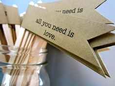 all you need is love bridal shower   25 All You Need Is Love Drink Stir Sticks/Wedding/Bridal Shower/Rustic