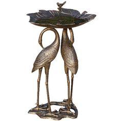 Two Cranes With Lily Pad Birdbath L&L Merchandise http://www.amazon.com/dp/B00T9ROE2U/ref=cm_sw_r_pi_dp_.N6qvb023RSMD