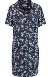 EquipmentPrinted silk-crepe mini dress