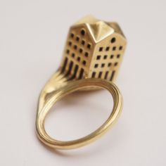 3d printed and brass casted jewellery created by studioluminaire
