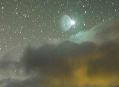 Educating Humanity Beautiful UFO Photographed in Night Sky Over Ecuador