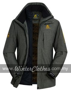 Men's Plus Size Outdoor Waterproof Dual Pieces Sporty 3-in-1 Causal Winter Jacket - Winter Clothes