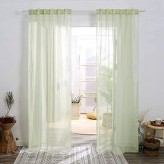 Deconovo Sheer Curtains - CountryCurtains White Sheer Curtains, Sheer Curtain Panels, Curtain Rods, Panel Curtains, Cosmos, Decorate Your Room, Soft Furnishings, Window Treatments, Home
