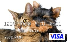 Show the world your love of cute animals with your own custom Prepaid Visa #prepaid #Visa