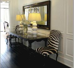 Paneling, lamps and table--TG interiors: Gathering Design Ideas
