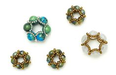 Beaded bead mini-class | BeadandButton.com for ribbon or large hole bead cords and chains.